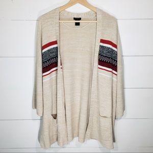 ANN TAYLOR Long Tunic Cardigan Sweater w/ Pockets